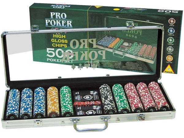 Набор для игры в покер (500 фишек) Piatnik Pro Poker. следующая страница.